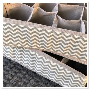 Grey Chevron Sock Underwear drawer organizer